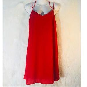 Finn & Clover Womens Red Dress Size Small